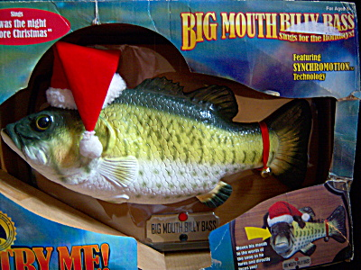 Big Mouth Billy Bass NEVER USED IOB Singing Fish UNOPEN (Image1)