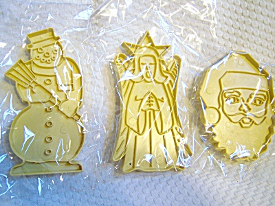 LOT 3 RARE Stanley Home Products COOKIE CUTTERS Christm (Image1)