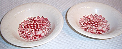 LOT 2 HOMER LAUGHLIN/ QUAKER OATS HARVEST Bowls (Image1)