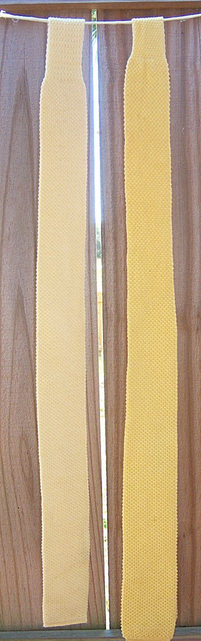 Lot Of 2 Vintage Square Bottom Knit Neck Tie - Yellow