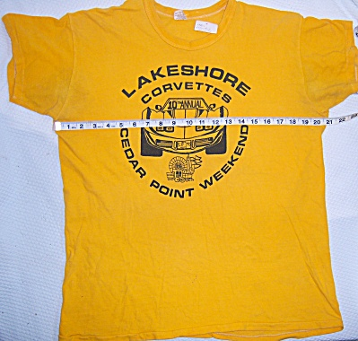 VTG 1970s 1977 LAKESHORE CORVETTE CLUB TEE T-Shirt XL  (Image1)