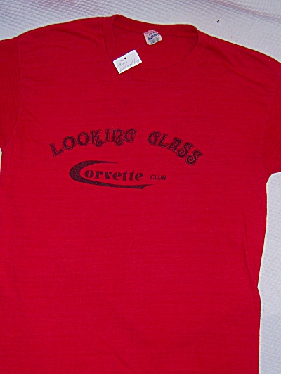 VINTAGE 1970s 70s Looking Glass CORVETTE CLUB TEE T-Shi (Image1)