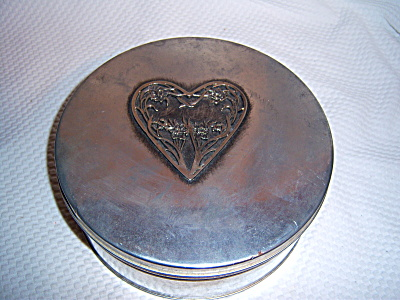Vintage Shabby Metzke Pewter Flower HEART Kitchen Cooki (Image1)