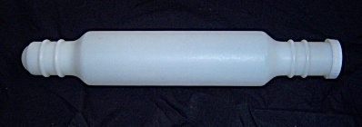 Vintage Tupperware Rolling Pin Fillable White with Scre (Image1)