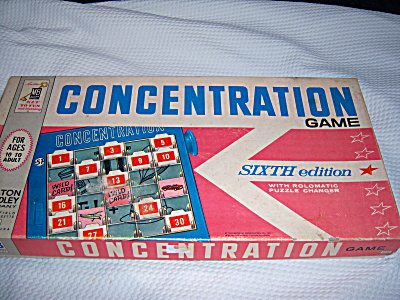 Concentration Board Game Sixth Edition 1961 Milton Brad