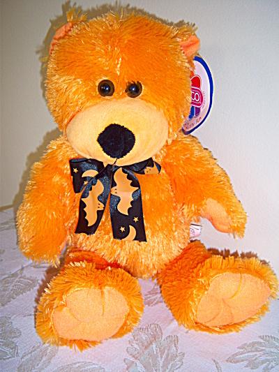MWT New ~ HALLOWEEN Orange Plush Cuddly Bear ~ 2008 (Image1)