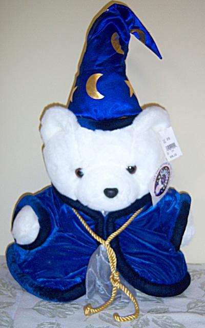 1999 Dayton Hudson Wizard Santabear Santa BEAR PLUSH w/ (Image1)