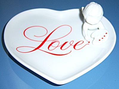 Avon Heart Shaped Decorative Porcelain Love  Plate  (Image1)