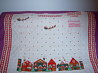 QUILTED FABRIC ~ Christmas Apron ~ PANEL ~ Santa Ginger (Image1)
