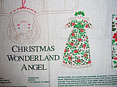 "Wamsutta Christmas Wonderland Angel 11"" Pocket DOLL Pan (Image1)"