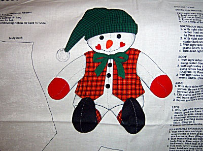 Cranston Vip Christmas Woodland Snowman Fabric Panel 17