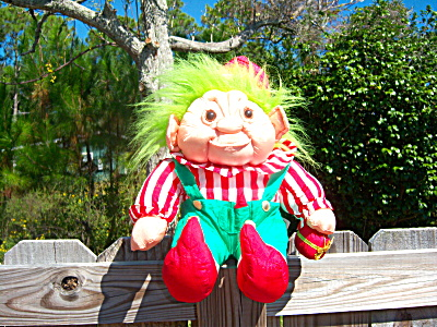 1992 Vintage Norfin Troll Doll Christmas Elf -