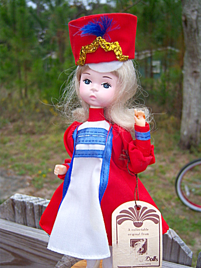 Bradley Silk Majorette Doll on Stand � Miss July w/ Tag (Image1)