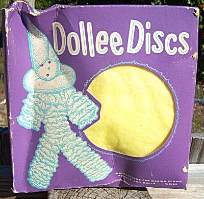 1950s Vintage DOLLEE DISCS 50 Disks Craft w/Instruction (Image1)