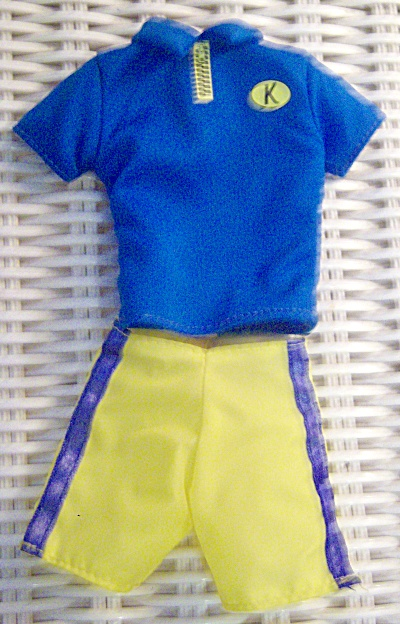 Ken Stylin Looks Fashions Blue Shirt Yellow Short White (Image1)