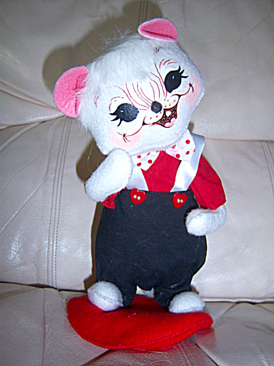 Annalee Valentines White Mouse Mice Boy Wearing Pants  (Image1)