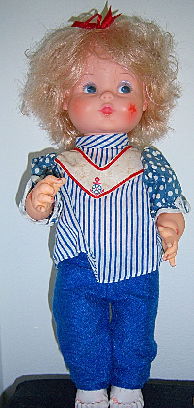 Vintage EUGENE DOLL Co Vinyl Sailor 14 inch Toddler   (Image1)