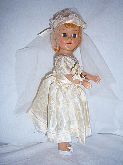 1950s  FLAPPER Girl BRIDE DOLL BODIES Inc  Doll HP (Image1)