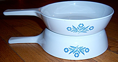 2 Corning Ware Blue Cornflower 1 Pint Menu-ette Saucepa (Image1)