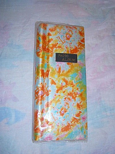 Vintage Photo Album TIE DYED Japan Blue Fabric Cover  (Image1)