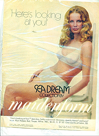 1971 Sea Dream by Maidenform ad Blonde Model (Image1)
