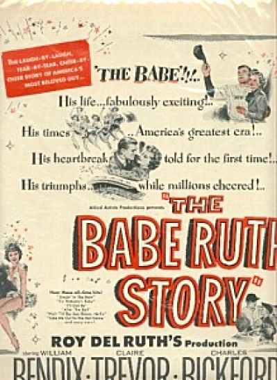 1948 BABE RUTH STORY Movie AD (Image1)