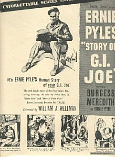 1945 G. I. Joe ERNIE PYLE Movie AD (Image1)
