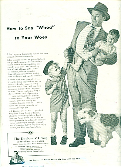1946 Employers' Group Insurance AD Dad - KIDS (Image1)