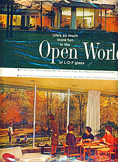 1963 LIBBY OWENS FORD GLASS WINDOWS AD OPEN W (Image1)