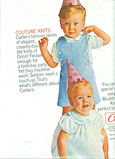 Carter's couture knits ad CUTEST Childrens (Image1)
