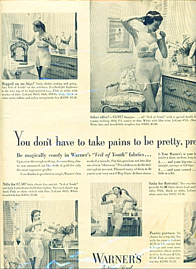 1950 WARNER'S FOUNDATION - BRA AD MODELS (Image1)