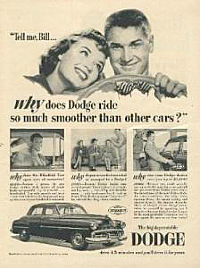 1951 Dodge Lovers Automobile Car AD (Image1)