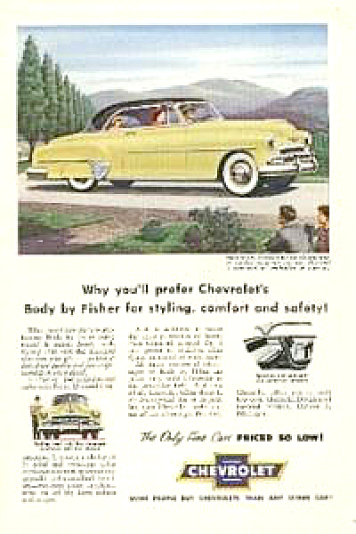 1952 Chevrolet Bel Air Auto Car AD (Image1)