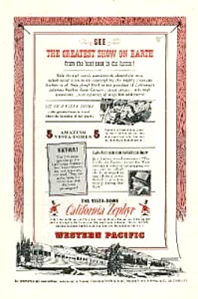 1952 Western Pacific Railroad Zephyr SF CA AD (Image1)