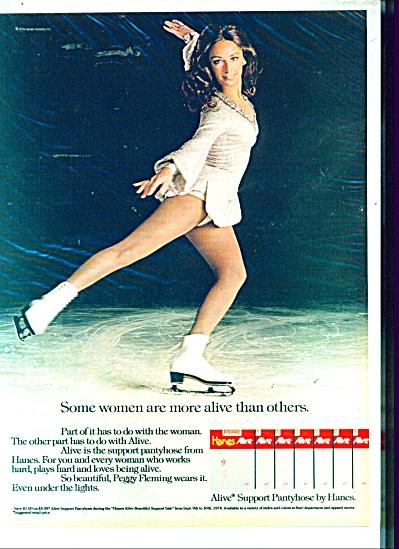 1980's HANES Alive PEGGY FLEMING Skater AD (Image1)
