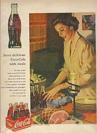 1953 Coca Cola Coke Ad Mother Cooking