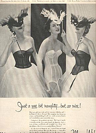 1954 Warner's Merry Widows Bra & Corset AD (Image1)