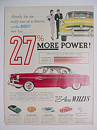 1954 Aero Willys Kaiser Automobile AD (Image1)