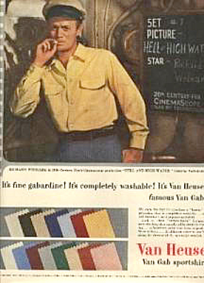 1954 Richard Widmark Shirt AD (Image1)