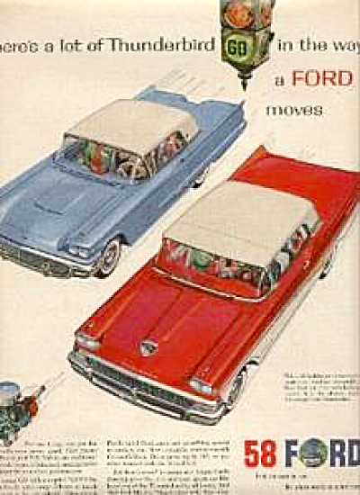 1958 Ford Thunderbird Car AD (Image1)