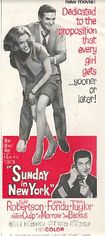 1960 Sunday in New York Movie AD (Image1)
