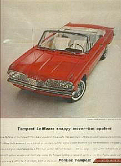 1962 Pontiac Tempest LeMans Car AD (Image1)