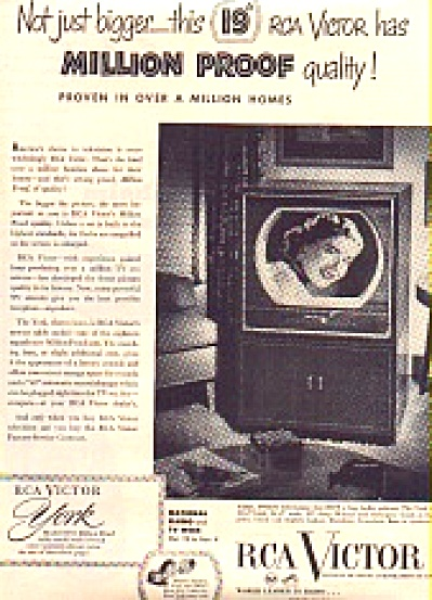 1956 RCA Victor YORK Model Television AD (Image1)