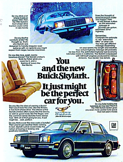 Buick Skylark for 1980 ad (Image1)