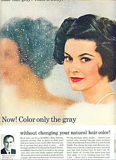1964 Clairol Loving Care AD Brunette Beauty (Image1)