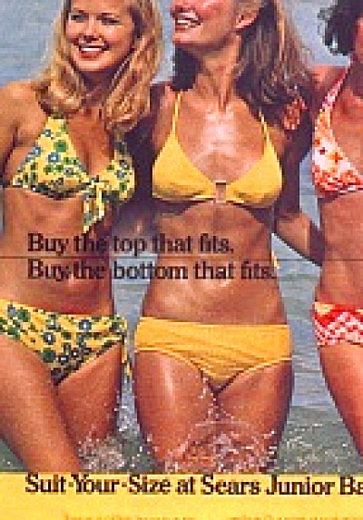 1974 SEARS MODELS AD KATHY LOGHRY Swim Suit (Image1)