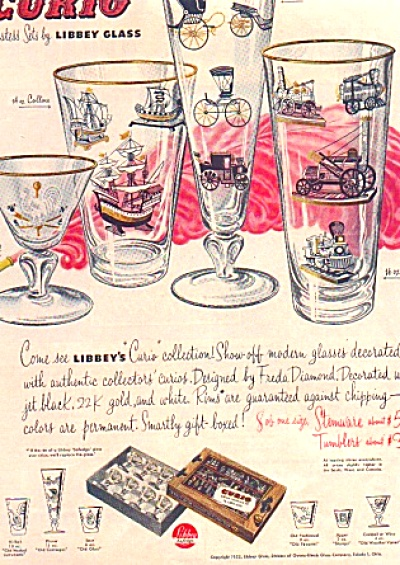 1952 Curio Hostess Set Libbey Glass Ad (Image1)