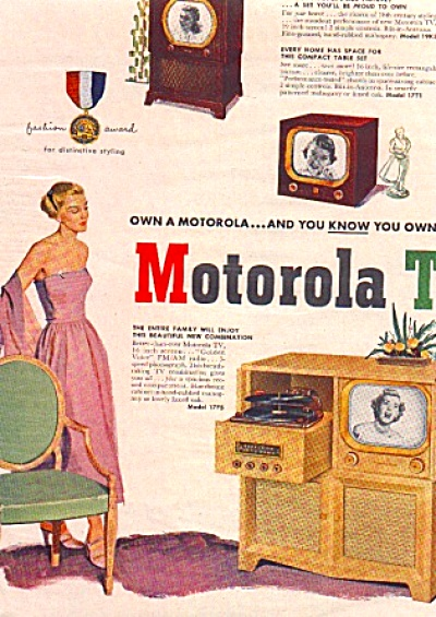 1950 Motorola Combination TV Phonograph Ad (Image1)