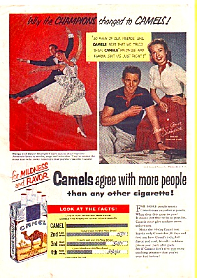 1953 Marge Gower Champion Cigarette  Camel Ad (Image1)