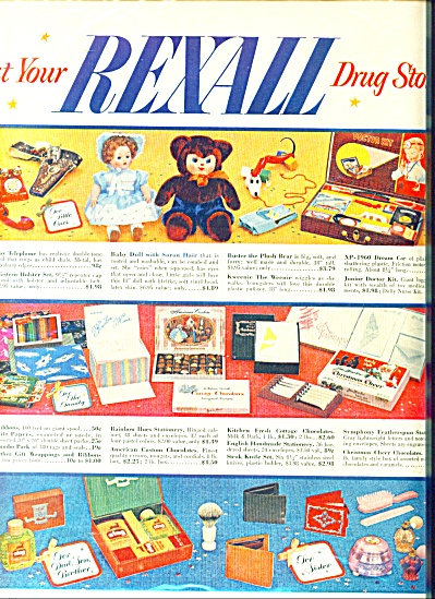 Rexall Drug AD VINTAGE TOYS - GIFTS XMAS DOLL (Image1)